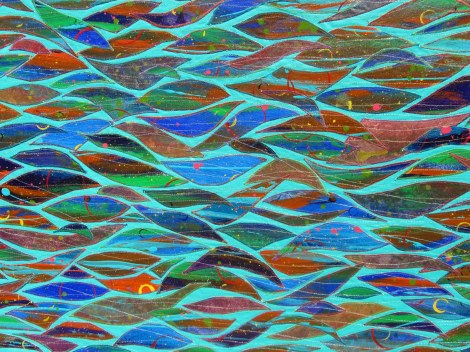 Key West Ocean, detail 2, Susan Lenz